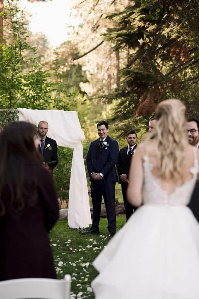 groom's reaction