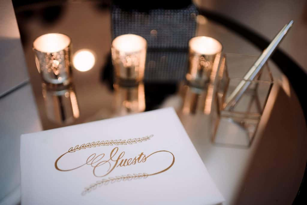 guest book at wedding