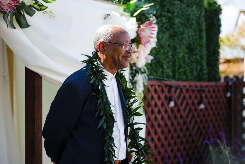 hawaiian backyard wedding