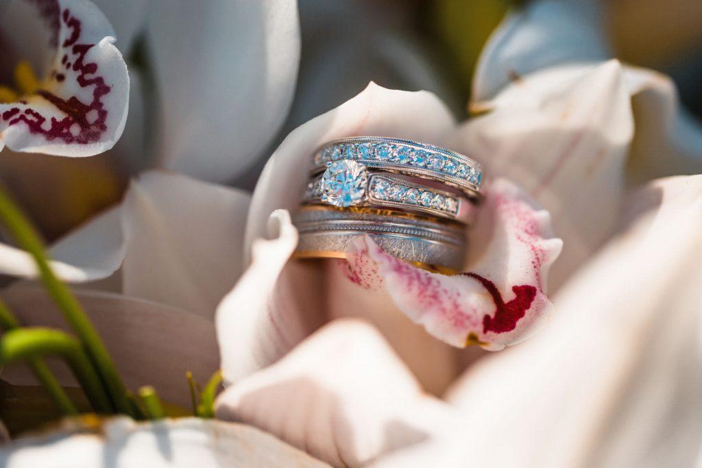 wedding ring detail photo