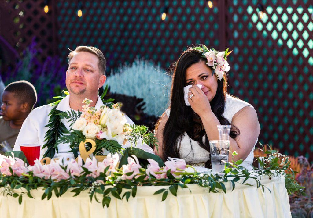 emotional hawaiian bride
