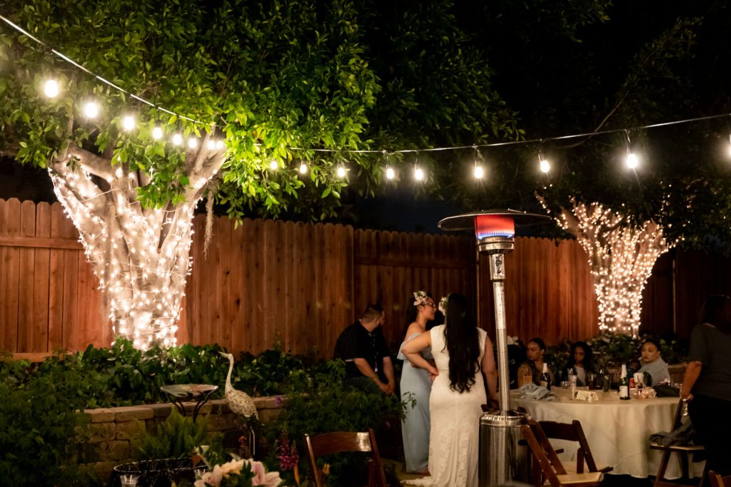 hawaiian backyard wedding