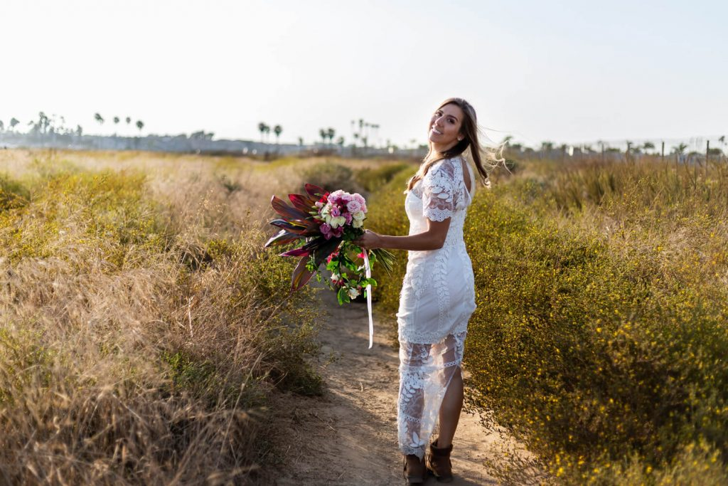 bride before southern california elopement