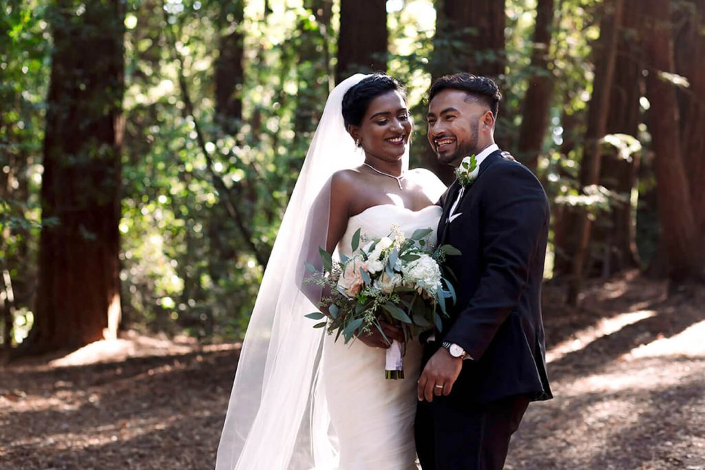 Wedding photo California Redwoods
