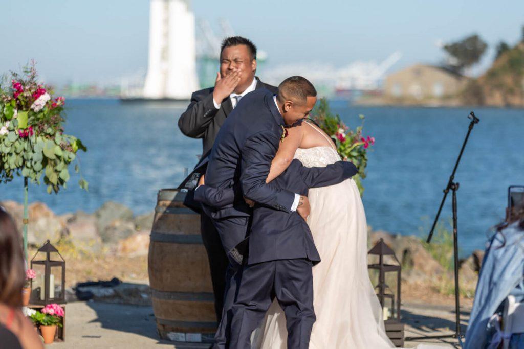 Winery SF wedding Treasure Island