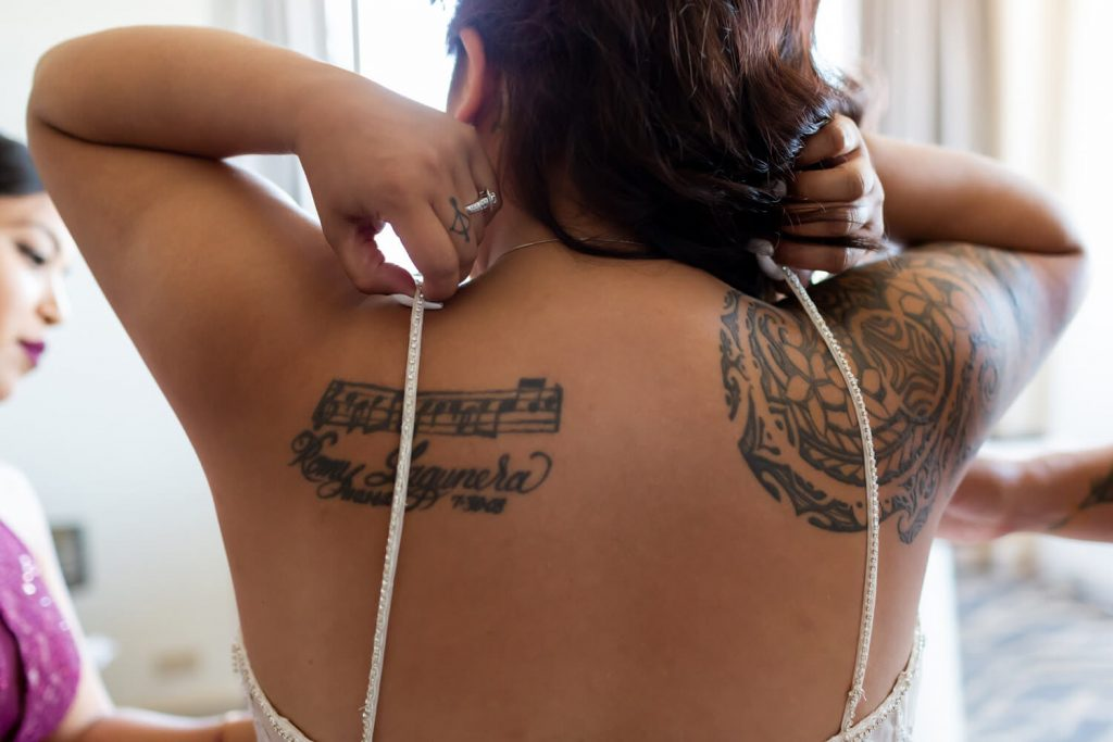 brides tattoo to remember father