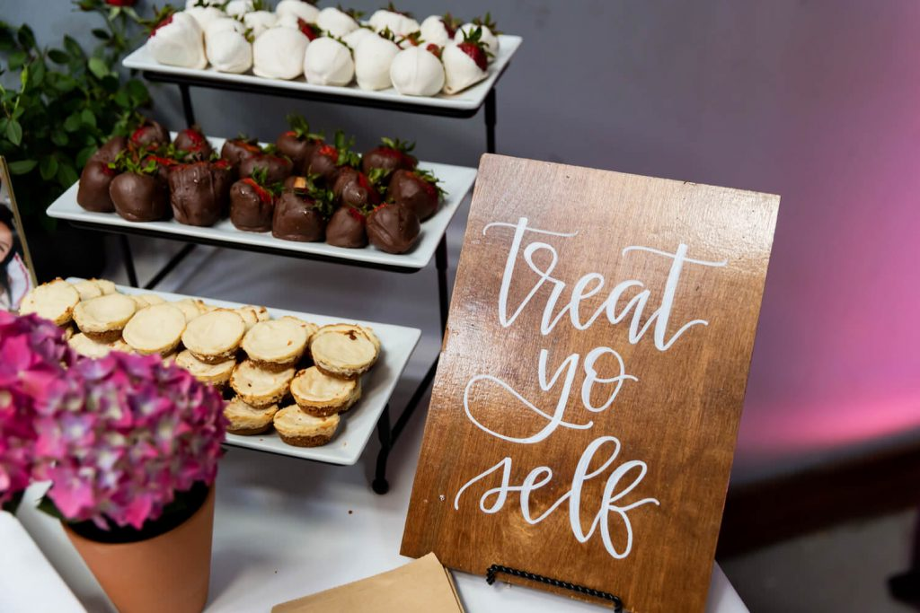dessert table at wedding