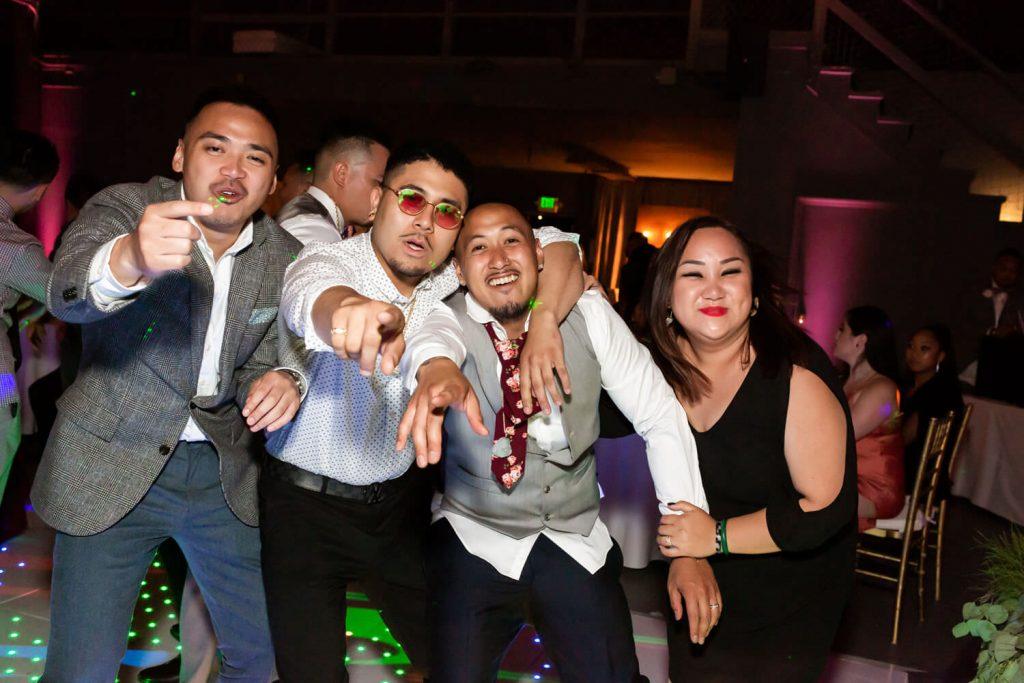 wedding guests at winery SF