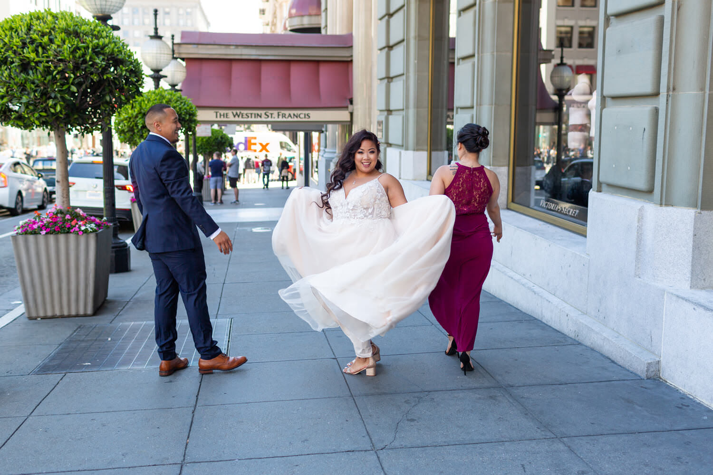bride in union square