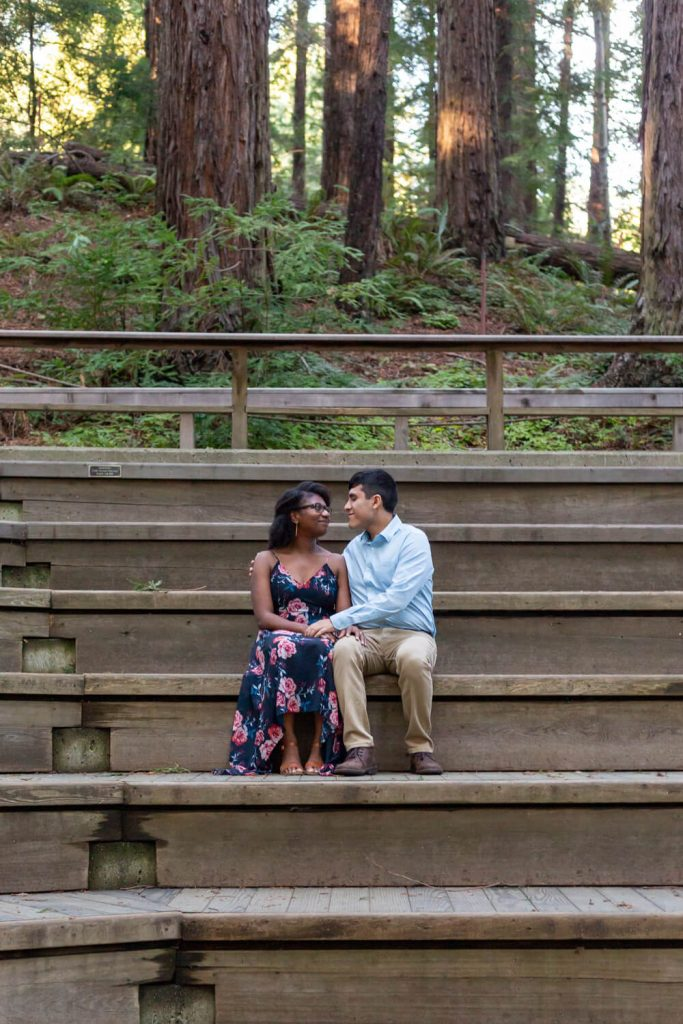 botanical gardens engagement photos