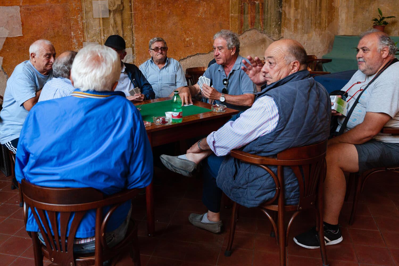 men playing poker in sorrento