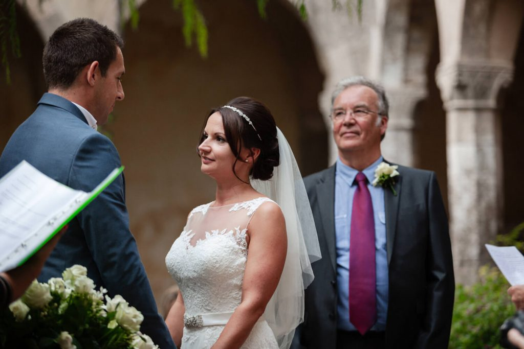 st francis cloister sorrento wedding