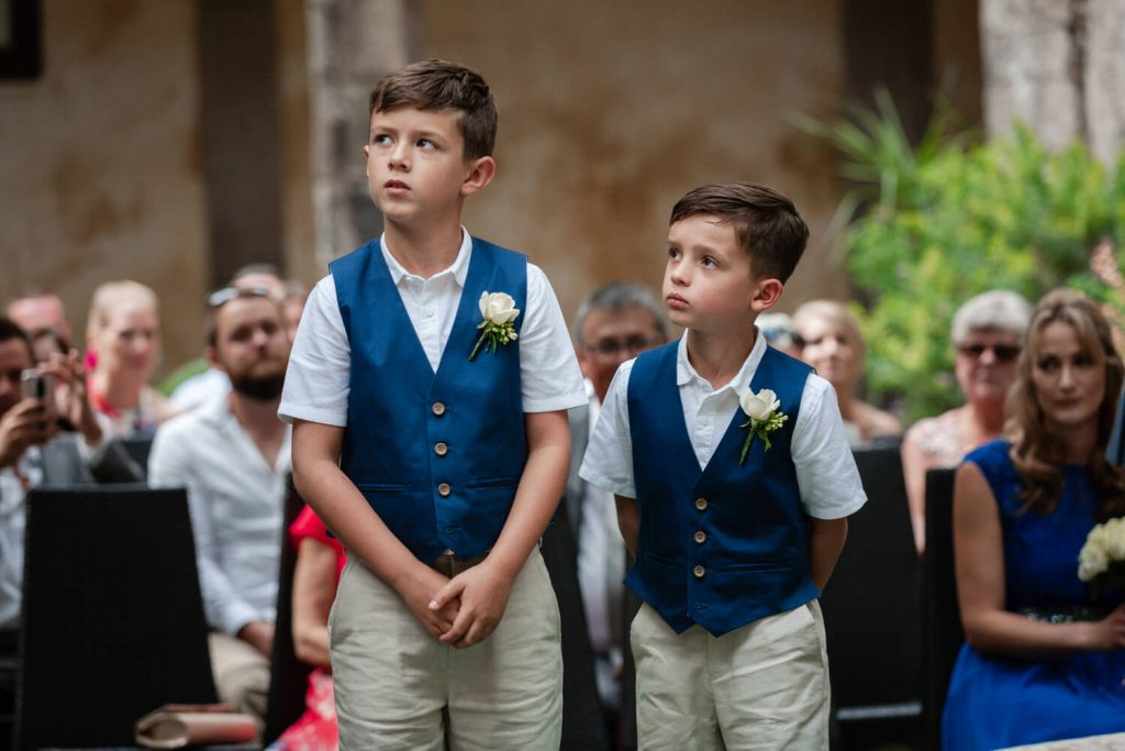 page boys at wedding in sorrento