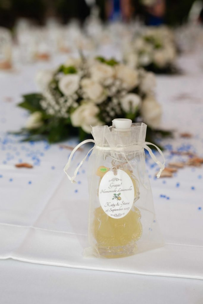 wedding favour limoncello