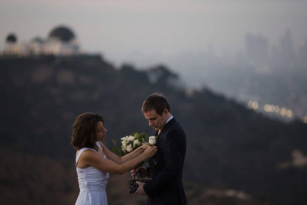 griffith observatory sunrise elopement