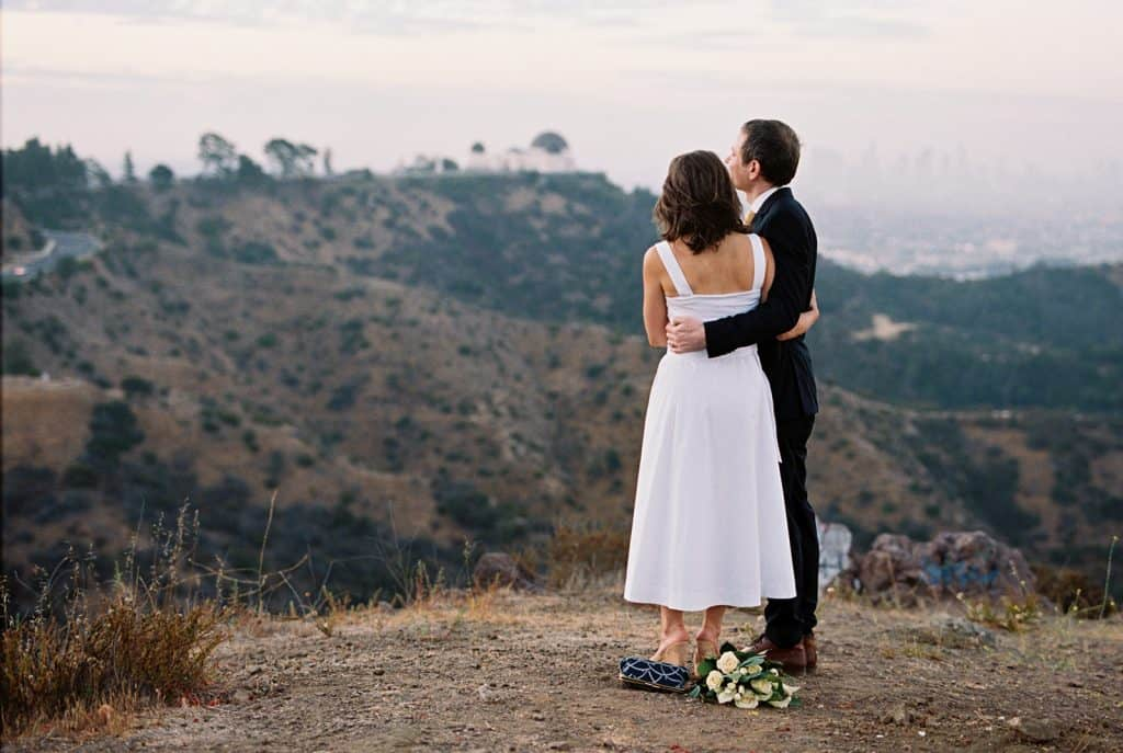 film wedding photo griffith observatory