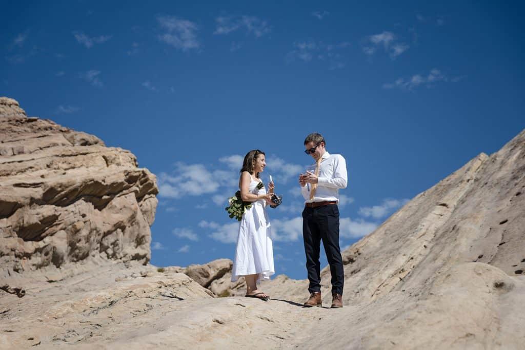 film wedding photo vasquez rocks