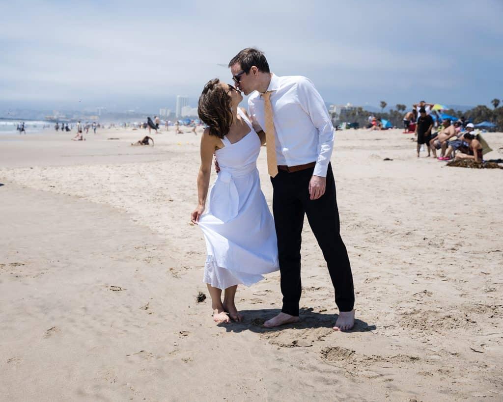 santa monica beach wedding